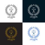 Law firm, office, center  logo design Stock Image