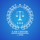Law firm, office, center  logo design Royalty Free Stock Image