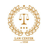 Law firm, office, center logo design Royalty Free Stock Photos