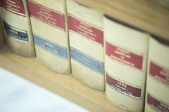 Law firm legal books Royalty Free Stock Images