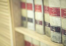 Law firm legal books Royalty Free Stock Photos