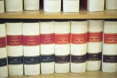Law firm legal books Royalty Free Stock Photo
