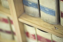 Law firm legal books Stock Photos