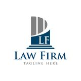 Law Firm Vector Template. With Background Royalty Free Stock Photos