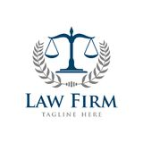 Law Firm Vector Template. With Background Stock Photos