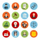 Law Flat Icons Stock Photo