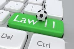 Law 11 football Royalty Free Stock Photos