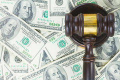 Law Gavel and Euro Money Royalty Free Stock Photography