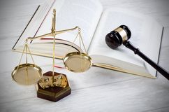Law gavel justice symbol Stock Photography