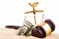 Law gavel Royalty Free Stock Images