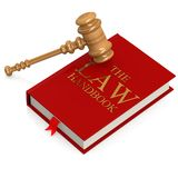 The law handbook. Image with hi-res rendered artwork that could be used for any graphic design Stock Photo