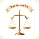 Law icon court scale Royalty Free Stock Images