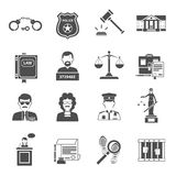 Law Icon Flat Stock Images