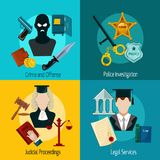 Law Icon Flat Royalty Free Stock Images