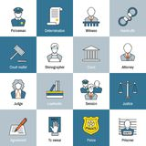 Law Icon Flat Line Stock Photography