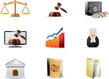 Law icon set Royalty Free Stock Photos