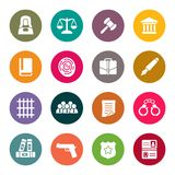 Law icon set Stock Photo