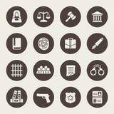Law icon set Royalty Free Stock Image