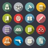 Law icon set Royalty Free Stock Image