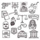 Law icon sketch Stock Photos