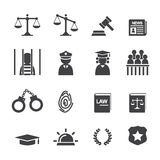 Law icon Stock Photography