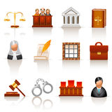 Law icons Stock Photography
