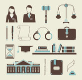 Law icons Royalty Free Stock Photos
