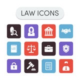 Law Icons Royalty Free Stock Photography