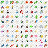 100 law icons set, isometric 3d style. 100 law icons set in isometric 3d style for any design vector illustration Stock Photography