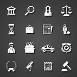 Law icons set Stock Images