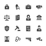Law Icons Royalty Free Stock Photo