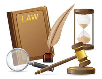 Law icons vector illustration Stock Image
