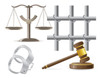 Law icons vector illustration Stock Images
