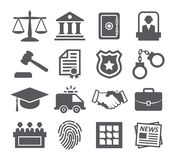 Law icons. On white background Stock Images