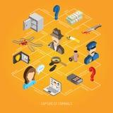 Law Isometric Concept Stock Photo