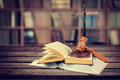 Law. Justice Book Legal System Weight Scale Education Gavel Stock Photo