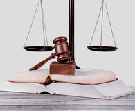 Law Justice. Book Legal System Weight Scale Education Gavel Intellectual Property Royalty Free Stock Photography