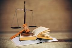 Law Justice. Book Legal System Weight Scale Education Gavel Intellectual Property Royalty Free Stock Photos