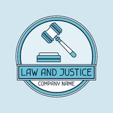 Law and justice company name concept emblem Stock Images