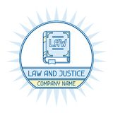 Law and justice company name concept emblem Royalty Free Stock Photos