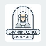 Law and justice company name concept emblem Royalty Free Stock Photo