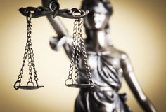 Law and justice concept. Close up Stock Images