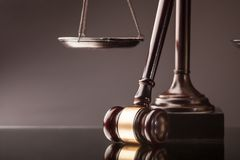 Law and justice concept. Arbitrate attorney auction authority background balance Stock Images