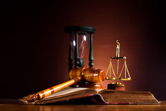 Law and justice concept, legal code and scales.  Royalty Free Stock Photo