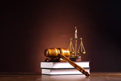Law and justice concept, legal code and scales.  Royalty Free Stock Images
