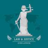 Law and justice design Stock Photography