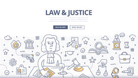 Law & Justice Doodle Concept Royalty Free Stock Image