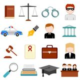 Law and Justice icon Stock Photo