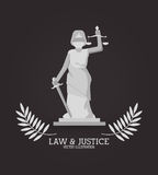 Law and Justice icon design Royalty Free Stock Photos