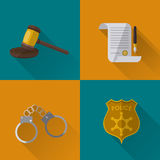 Law and Justice icon design Stock Image